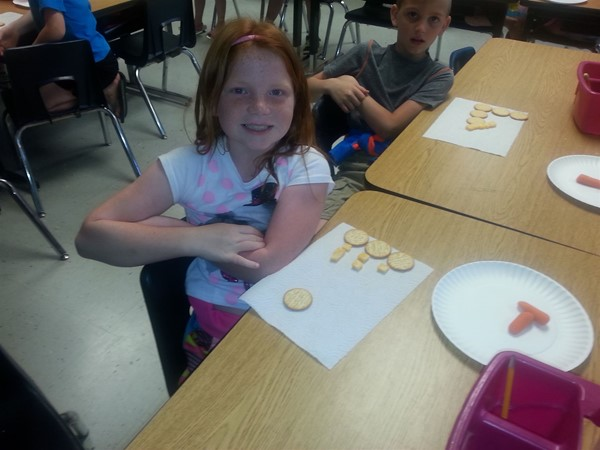 Eating Healthy from the Food Pyramid and making Patterns.