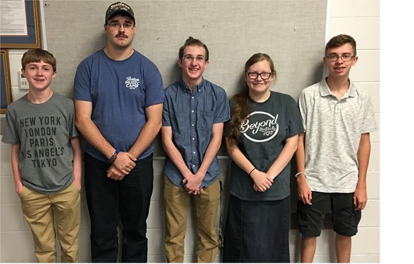 This summer JCHS band members Zack Fields, Jared Clark, Robert Fields, Paige Conner, and Matthew Thomas attended the 81st season of the Stephen Foster Music Camp held on the campus of Eastern Kentucky University.
