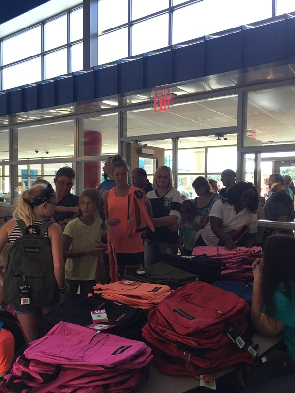 The Back to School Bash was held on Thursday, July 21st at the Jackson County High School with 600 in attendance.  The Back to School Bash was sponsored by Community Education, Jackson County Family Resource/Youth Services Centers, Title I and  Promise Neighborhood.