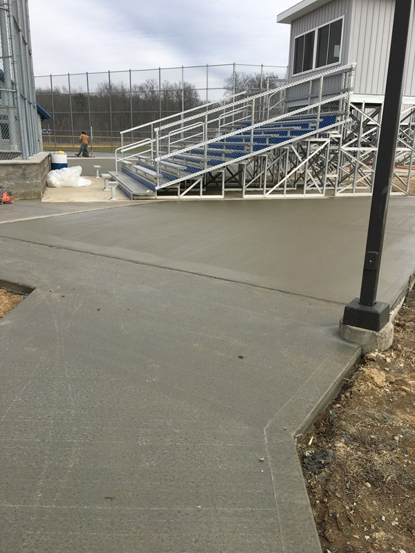 The concrete project at the JCHS Athletic Fields is substantially completed.  We are very pleased with the way the project turned out and look forward to our first JCHS General's Baseball game of the season, which will be held on March 9, 2017 against Richmond Model and our first Lady General's Softball game will be held March 16, 2017 against Lee County.  We would like to encourage everyone to come out and support our teams, as well as view the completed project.