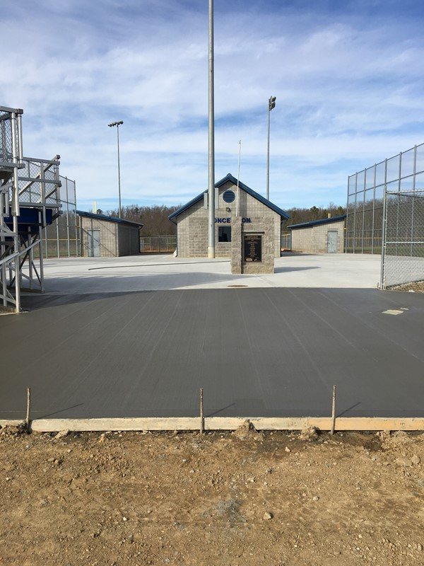 JCHS Concrete Project at Athletic Fields