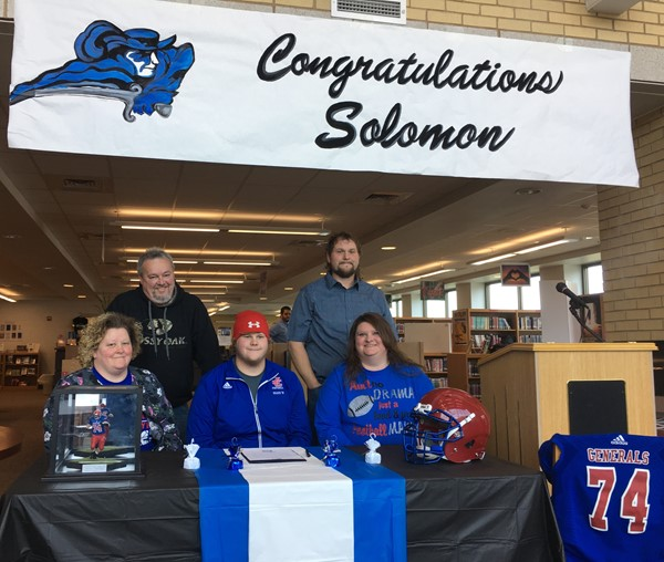 On February 1, 2017, Solomon Isaacs signed his official letter of intent to attend Lindsey Wilson College on a football scholarship at the Jackson County High School Library.  