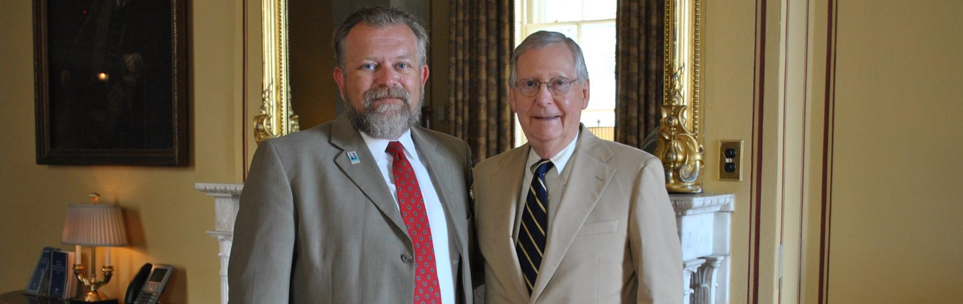 Mr. Howard Muncy with Senator Mitch McConnell